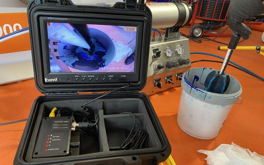 Detectar fugas de agua con cámara TV